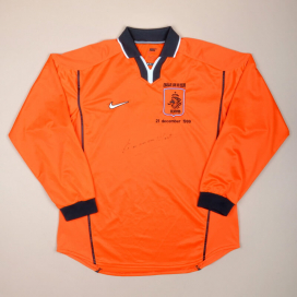 Holland 1999 Player Issue Special Signed Home Shirt (Very good) L