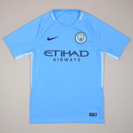 Manchester City 2017 - 2018 Home Shirt (Very good) S