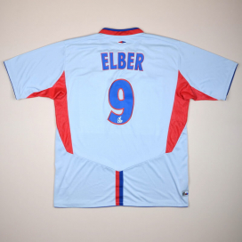 Lyon 2004 - 2005 European Shirt #9 Elber (Good) XL