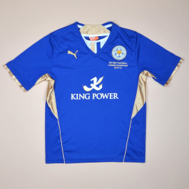 Leicester 2013 - 2014 'Champions' Home Shirt (Very good) YL
