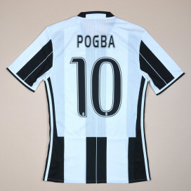 Juventus 2016 - 2017 AdiZero Home Shirt #10 Pogba (Very good) S