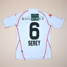 FC Sion 2009 - 2010 Match Issue Home Shirt #6 Serey (Very good) M