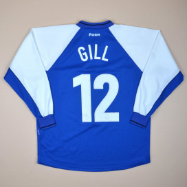Peterborough United 2001 - 2002 Home Shirt #12 Gill (Very good) L