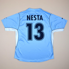 Lazio 2001 - 2002 Home Shirt #13 Nesta (Very good) XL