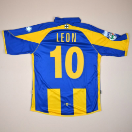 Parma 2008 - 2009 Match Issue Away Shirt #10 Leon (Very good) L