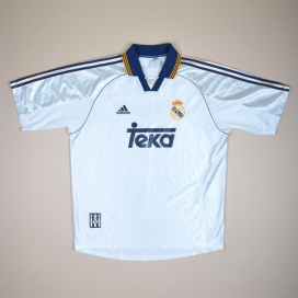 Real Madrid 1998 - 2000 Home Shirt (Excellent) XL