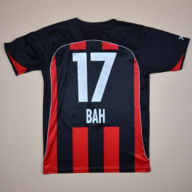 Neuchatel Xamax 2007 - 2008 Match Issue Home Shirt #17 Bah (Very good) L