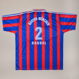 Bayern Munich 1995 - 1997 Home Shirt #2 Babbel (Very good) XXL