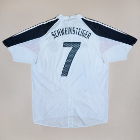 Germany 2004 - 2005 Home Shirt #7 Schweinsteiger (Very good) L