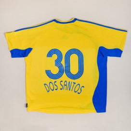 Grasshoppers 2006 - 2008 Match Issue Away Shirt #30 Dos Santos (Very good) XL