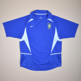 Brazil  2002 - 2004 Away Shirt (Very good) L