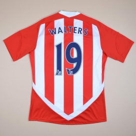 Stoke City 2011 - 2012 Home Shirt #19 Walters (Excellent) M