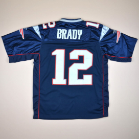 New England Patriots 2000 NFL Authentic American Football Shirt #12 Brady (Very good) XL