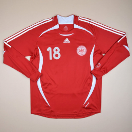 Denmark 2006 - 2008 Match Issue Home Shirt #18 (Very good) XL