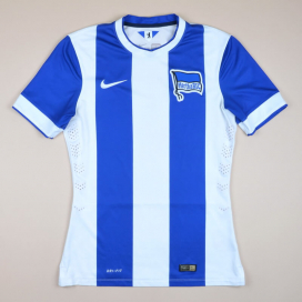 Hertha Berlin 2013 - 2014 Player Issue Home Shirt (Very good) M