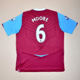 West Ham 2008 - 2009 Home Shirt #6 Moore (Very good) XL