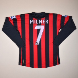 Manchester City 2011 - 2012 Match Issue Signed Away Shirt #7 Milner (Excellent) M