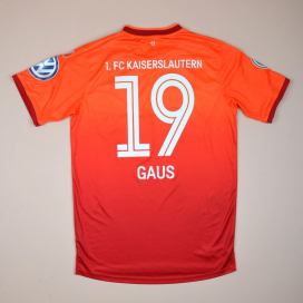 Kaiserslautern 2014 - 2015 Match Issue Signed Home Shirt #19 Gaus (Excellent) M