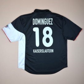 Kaiserslautern 2000 - 2001 Signed Away Shirt #18 Dominguez (Good) XL