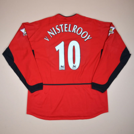 Manchester United 2003 - 2004 Home Shirt #10 v. Nistelrooy (Very good) XL