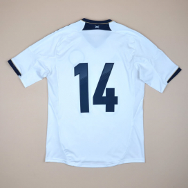 Scotland 2012 - 2014 Match Issue Formotion Away Shirt #14 (Excellent) L