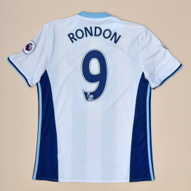 West Brom 2016 - 2017 Home Shirt #9 Rondon (Very good) M