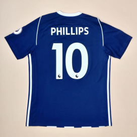 West Brom 2017 - 2018 Home Shirt #10 Phillips (Very good) M