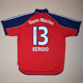 Bayern Munich 1999 - 2001 'Signed' Home Shirt #13 Sergio (Excellent) XL