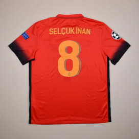Galatasaray 2015 - 2016 Champions League Third Shirt #8 Selcuk Inan (Very good) L