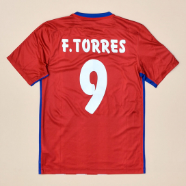 Atletico Madrid 2015 - 2016 Home Shirt #9 F. Torres (Very good) S