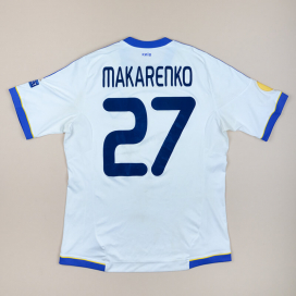 Dynamo Kiev 2013 - 2014 Match Worn Unwashed Home Shirt #27 Makarenko (Good) L