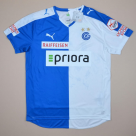 Grasshoppers 2015 - 2016 'BNWT Signed Home Shirt (New with tags) L