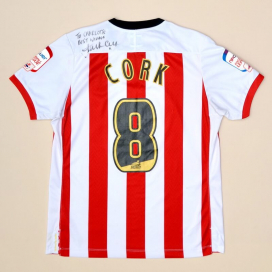 Southampton 2011 - 2012 Match Issue Signed Home Shirt #8 Cork (Very good) M