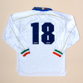 Italy 1994 - 1996 Match Issue Away Shirt #18 (Very good) L