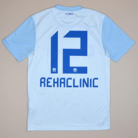 FC Zurich 2012 - 2013 Signed Home Shirt #12 Rehaclinic (Very good) S