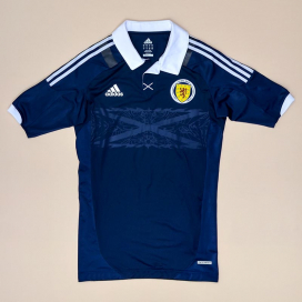 Scotland 2011 - 2013 Player Issue TechFit Home Shirt (Very good) L