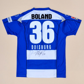 MSV Duisburg 2007 - 2008 Match Issue Signed Home Shirt #36 Boland (Very good) XL