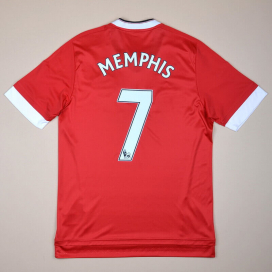 Manchester United 2015 - 2016 Home Shirt #7 Memphis  (Excellent) M