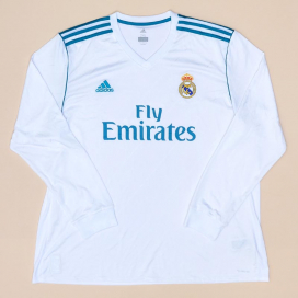 Real Madrid 2017 - 2018 Home Shirt (Excellent) XXL