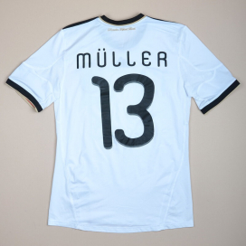 Germany 2010 - 2012 Home Shirt #13 Muller (Very good) S