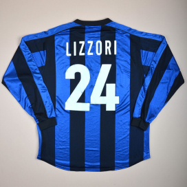 Inter Milan 1999 - 2000 Match Issue Home Shirt #24 Lizzorri (Very good) XL