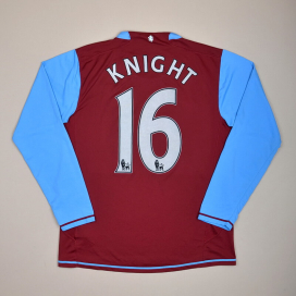 Aston Villa 2007 - 2008 Home Shirt #16 Knight (Very good) M