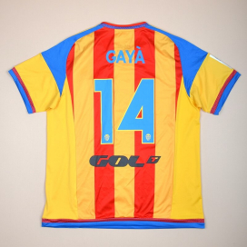 Valencia 2015 - 2016 Player Issue Away Shirt #14 Gaya (Excellent) XL