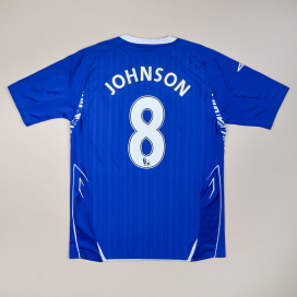 Everton 2007 - 2008 Home Shirt #8 Johnson (Good) S