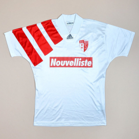 FC Sion 1992 - 1993 'Signed' Home Shirt (Very good) S