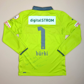 Grasshoppers 2012 - 2013 Match Issue Signed Goalkeeper Shirt #1 Burki (Very good) L