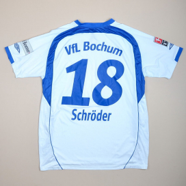 VFL Bochum 2007 - 2008 Match Issue Away Shirt #18 Schroder (Very good) XL