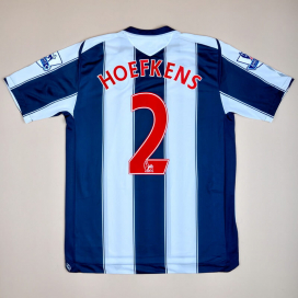 West Brom 2008 - 2009 Match Issue Home Shirt #2 Hoefkens (Excellent) L