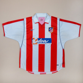 Atletico Madrid 2001 - 2002 Home Shirt (Good) L