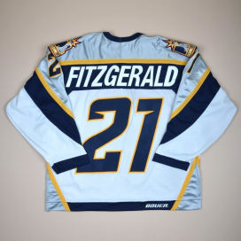 Nashwille Predators 2000 NHL Hockey Shirt #27 Fitzgerald (Excellent) L